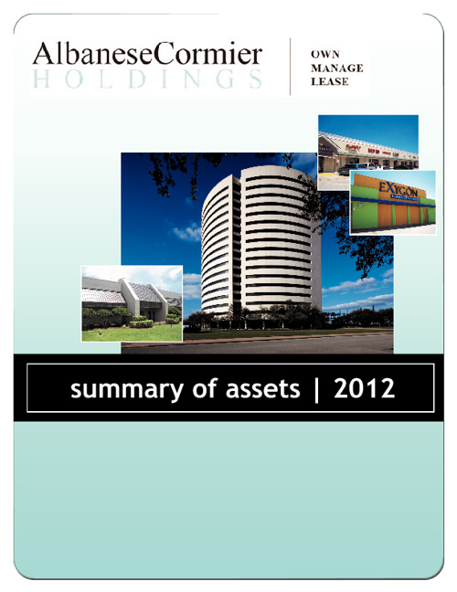 AlbaneseCormier Holdings Summary of Assets