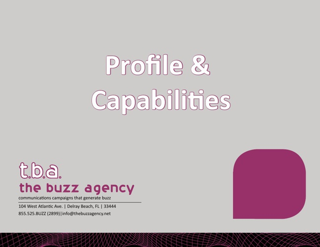 The Buzz Agency Portfolio (March 2013)