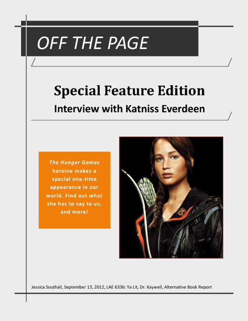 Off the Page: Alternative Book Report for Hunger Games