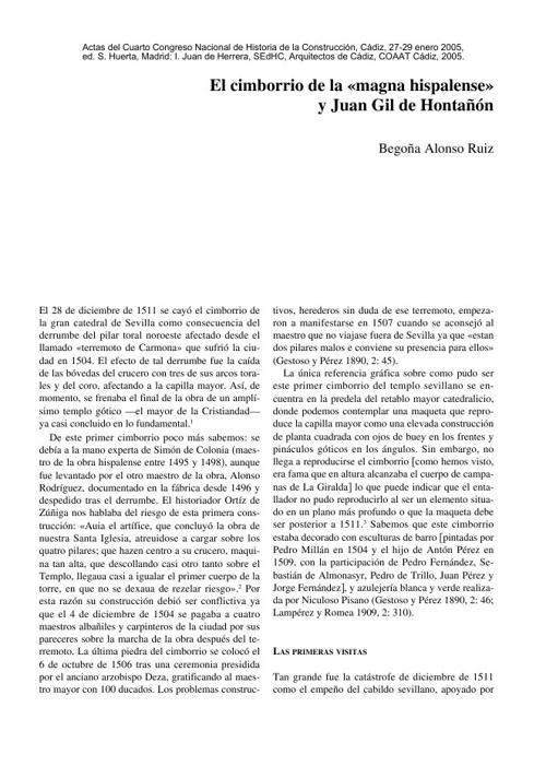 EL CIMBORRIO DE LA CATEDRAL DE SEVILLA