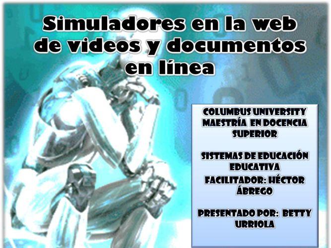 Simuladores en la web de videos y documentos