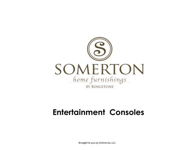 Somerton Entertainment Consoles
