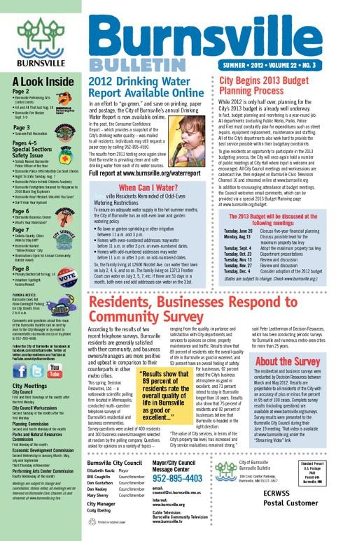 Summer 2012 Burnsville Bulletin