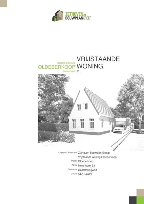 Nieuwbouw woning Oldeberkoop, Molenhoek 53