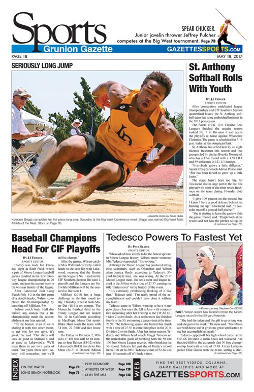 Gazette Sports  |  May 18, 2017