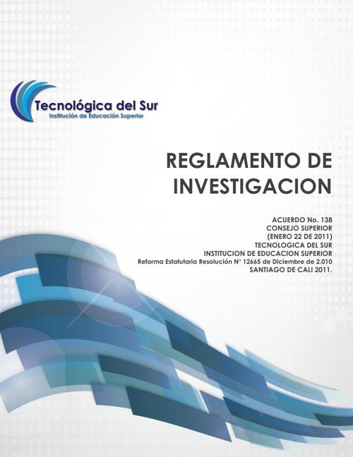 REGLAMENTO DE INVESTIGACION