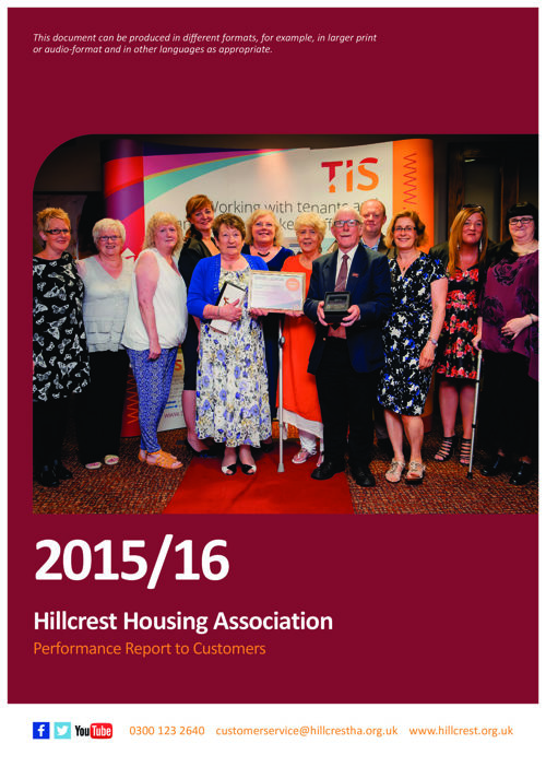 Hillcrest Tenants Report 2016