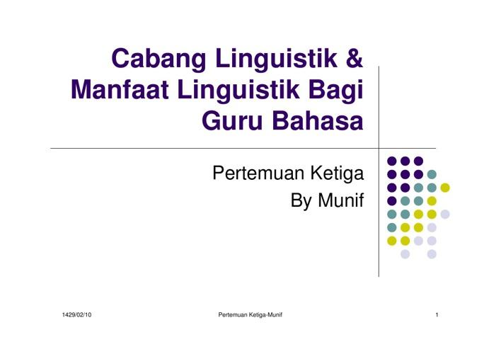 linguistik bagi guru bahasa