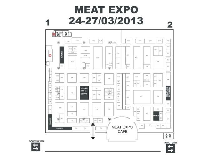 Beursplan - Meat Expo 2013