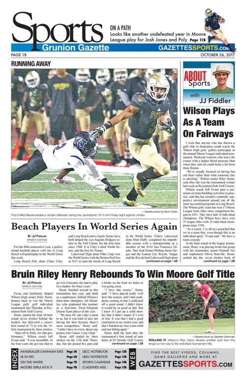 Gazette Sports 10-26-17