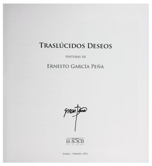 Ernesto Garcia Peña - Traslucidos Deseos