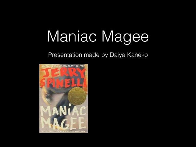 Maniac Magee book talk
