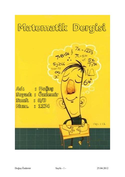 Matematik e-Dergi