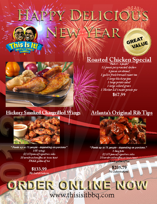 This Is It! BBQ and Seafood New Year's and Football Party Menu