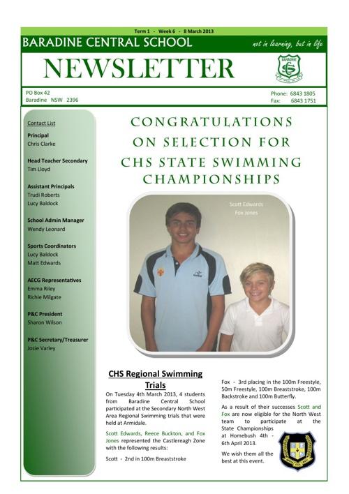 Newsletter T1 W6
