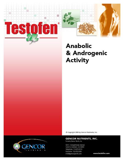 Testofen Anabolic Study