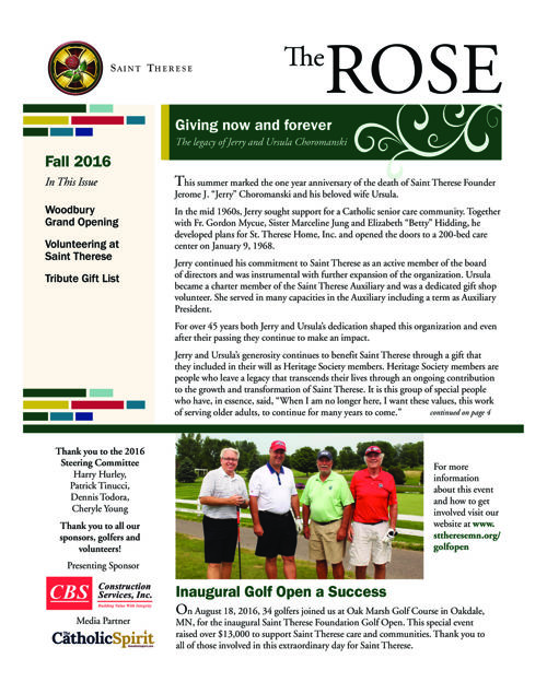 The Rose Newsletter - Fall 2016