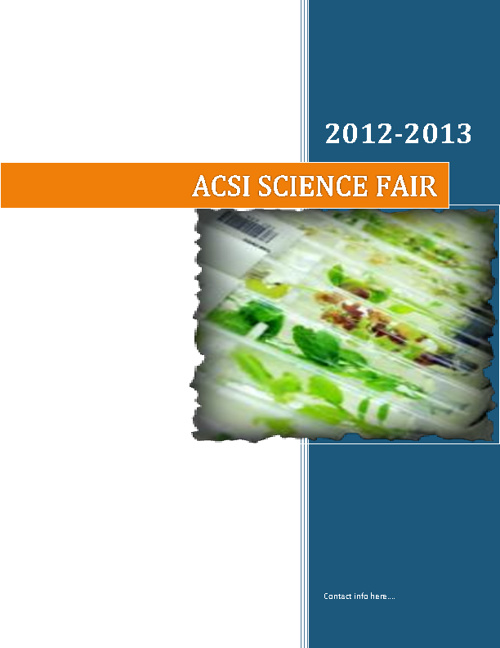 ACSI Science Fair Notebook