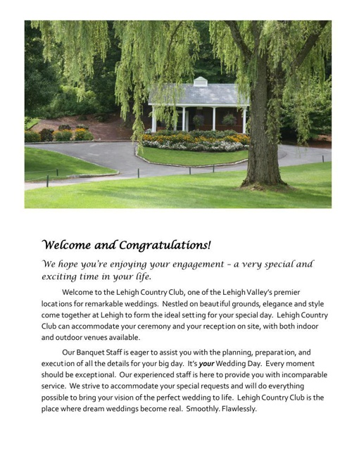 LCC's Signature Wedding Package