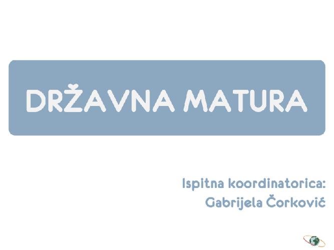 Državna matura 2012./2013.