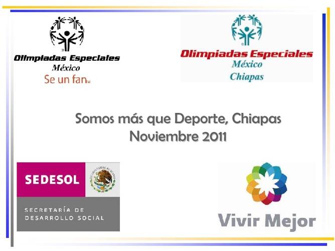 Olimpiadas Especiales Somos mas que Deporte Chiapas