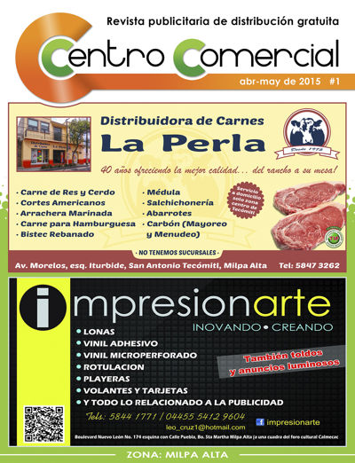 Revista Centro Comercial #1 Abr-May de 2015