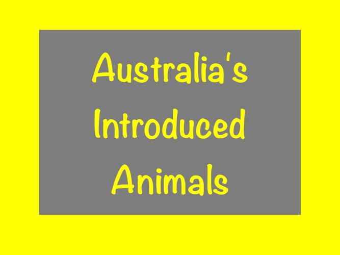 Australia'a Introduced Animals Book 2