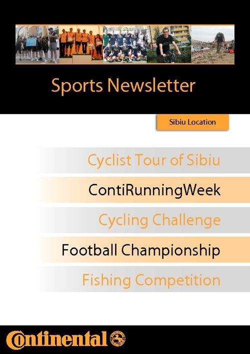 Sports Newsletter Conti Sibiu
