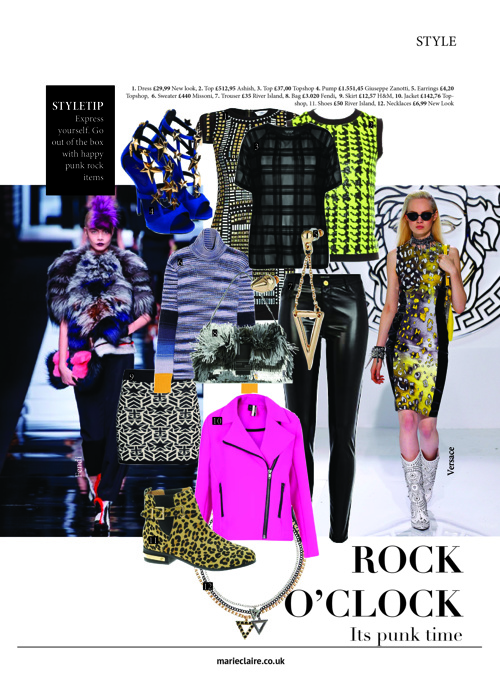 Shopping pages Marie Claire