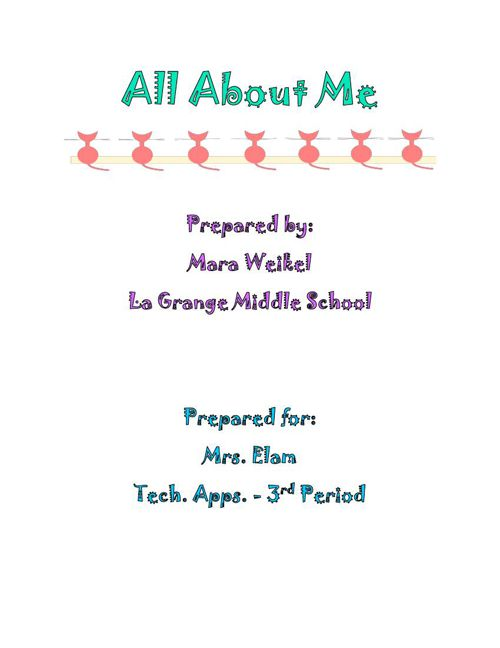 All About Me Report