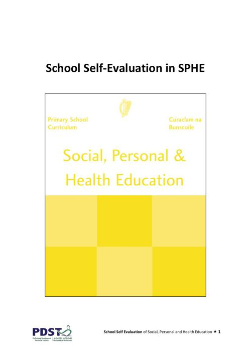 SSE of SPHE Support Materials 2015
