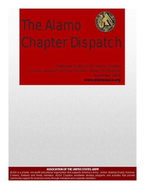 The Alamo Chapter Dispatch November 2014