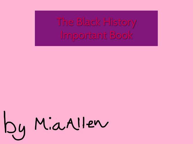 Mia's book