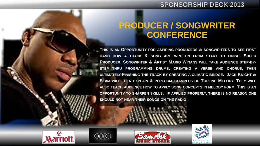 Producer / Songwriter Conference - Sponsorship Deck 2013