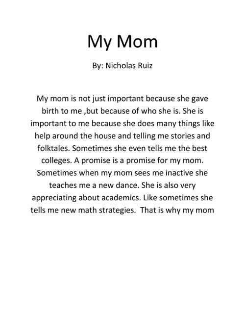 My Mom by Nick