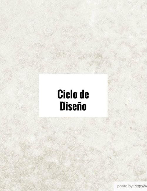 El Ciclo De Diseño