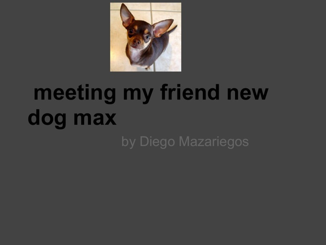 Meeting my friends new dog max