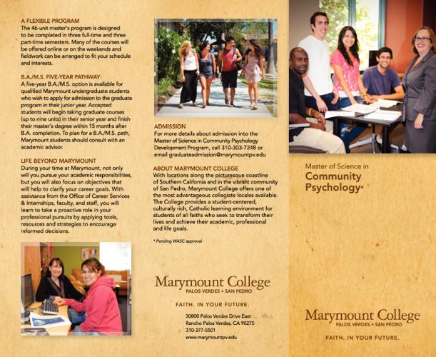 Community Psychology MS Brochure