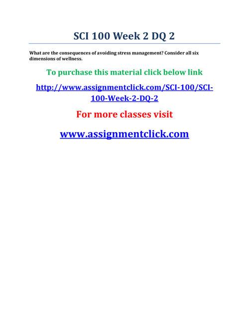 UOP SCI 100 Week 2 DQ 2