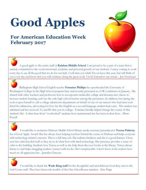 Good Apples February 2017