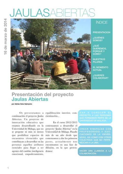 Dossier informativo de Jaulas Abiertas
