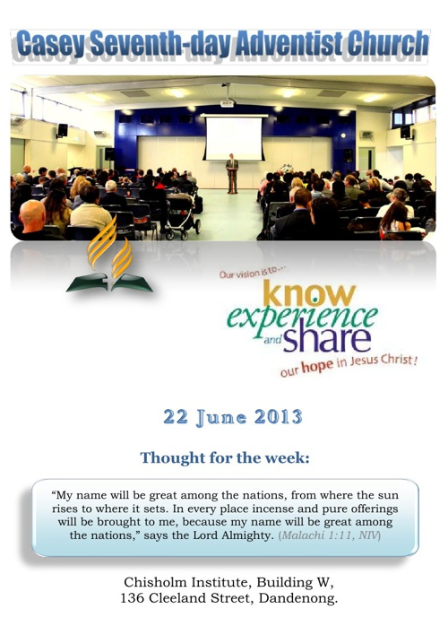 Bulletin 22 June 2013