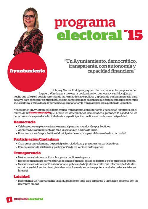 Programa Electoral IU Mocejón 2015