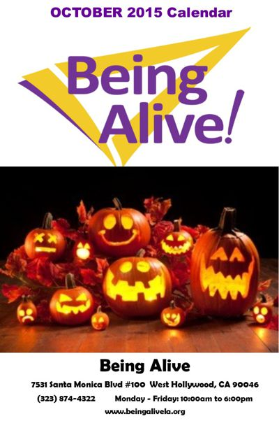 Being Alive October 2015 Calendar