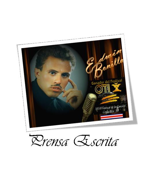 Prensa Escrita Edwin Bonilla