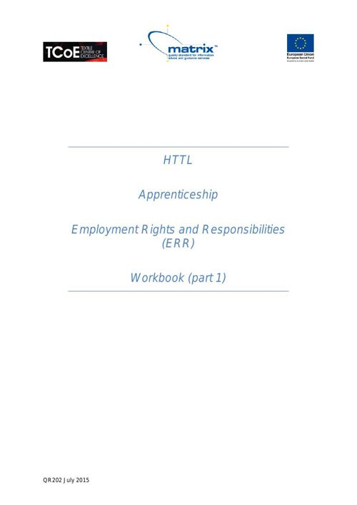 QR202 Employment Rights & Responsibilities July 2015 pt1