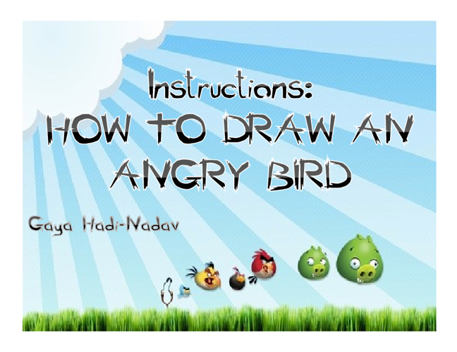 Copy of How To Draw an Angry Bird