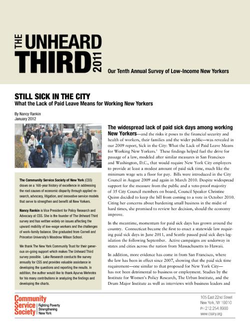 Still Sick in The City: The Unheard Third