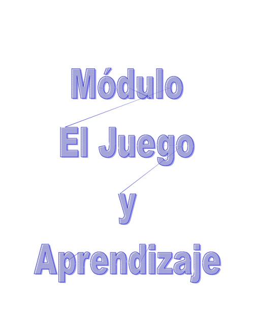 JUEGO Y APRENDIZAJE