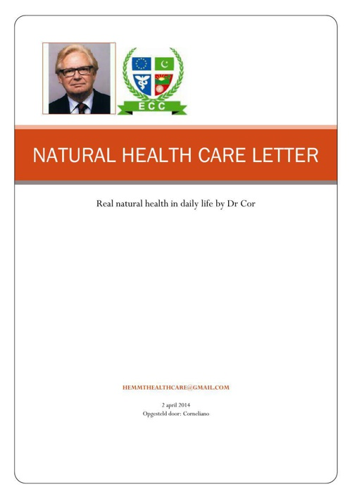 NATURAL HEALTH CARE LETTER
